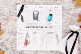 This is the Play by Sephora November box and includes 6 samples for winter skincare, makeup and hair.