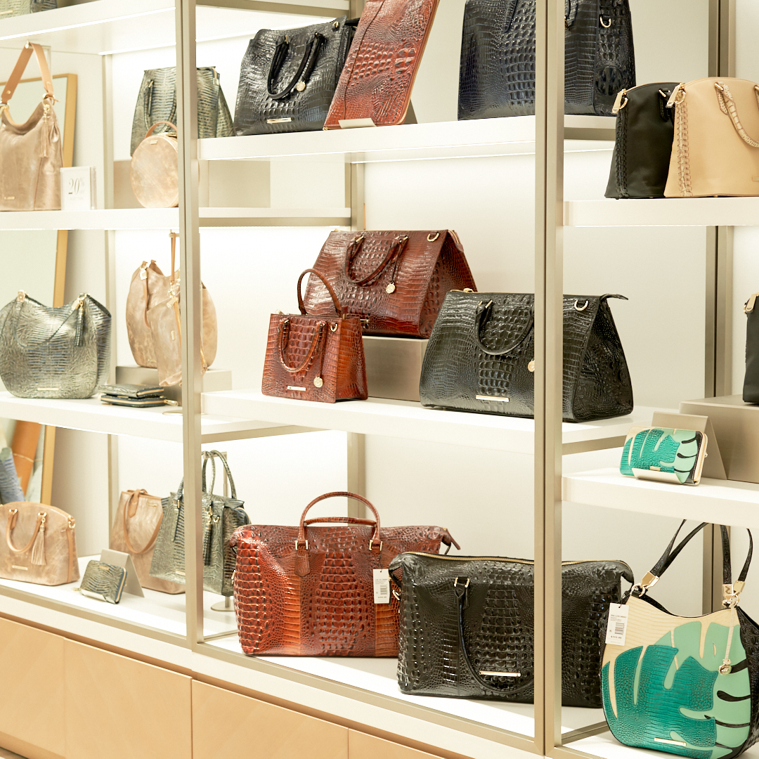Pic of display of bags at Brahmin Store