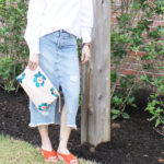 How to Style a Denim Midi Skirt