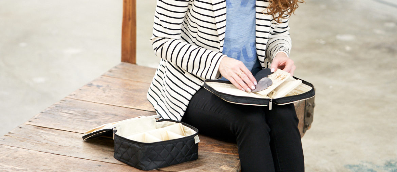 Perfect & Petite Travel Bags by Ellis James Designs