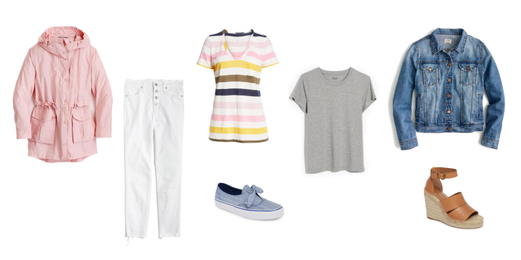 Picture of various items for spring that you can mix and match