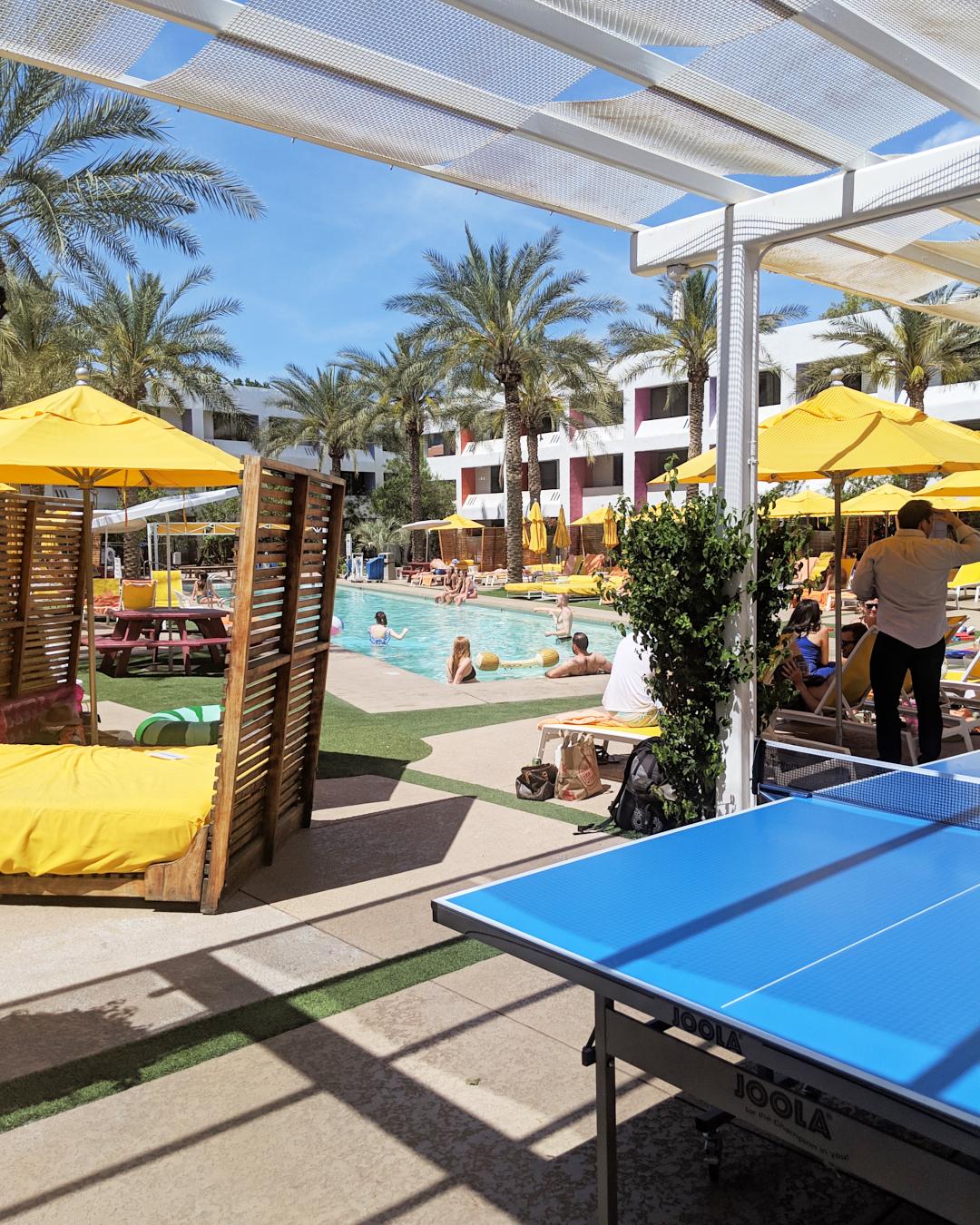Outside pool area of the Saguaro Hotel