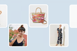 Photo of various things I suggested for summer. Cotton, Linen, Straw Bag, Hair Scarf, Cropped Pants