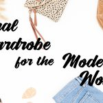 A flat lay photo of items from my Casual Wardrobe for the Modern Woman EBook Style Guide