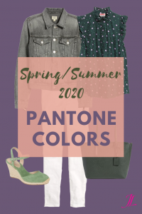 Photo of an outfit showing clothing that represents the pantone colors for spring/summer 2020