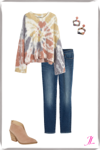 Photo of tie dye sweater and jeans