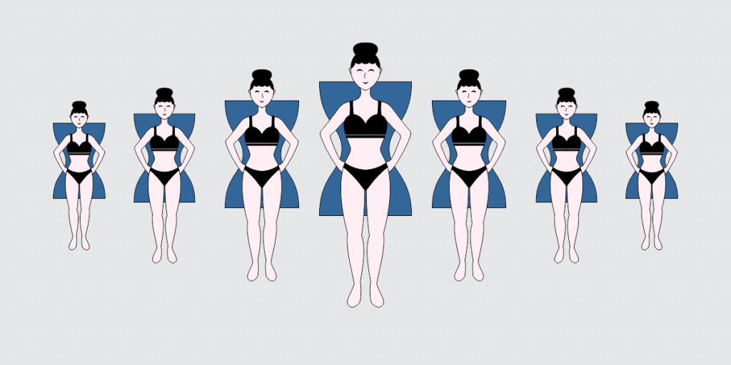 How to Style The Hourglass Shape Image with girl and hourglass shape behind her