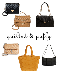 Fall 2021 Handbag Trends Worth Trying - Quilted and Puffy